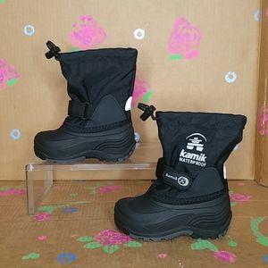 Kamik Waterproof Boots 28815-BLK Size 8